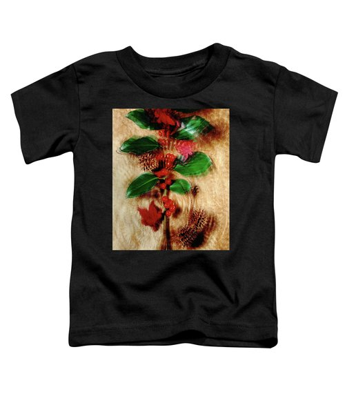 Red Holly Spinning Toddler T-Shirt