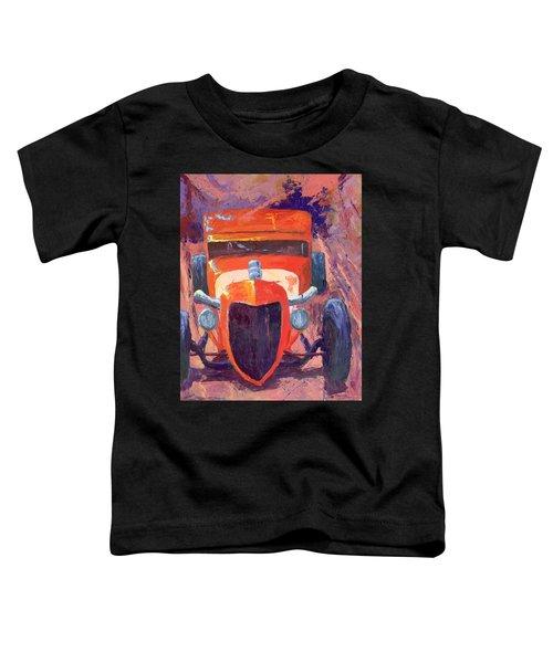 Red Hot Rod Sedan Toddler T-Shirt