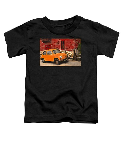 Red House With Orange Car Toddler T-Shirt