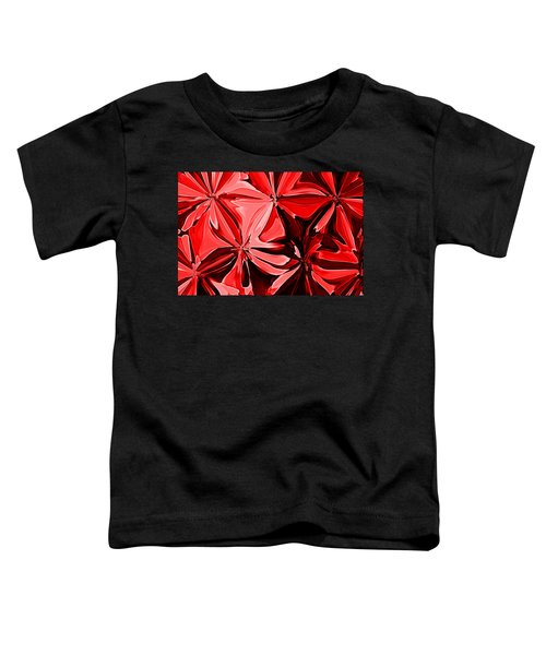 Red Pinched And Gathered Toddler T-Shirt