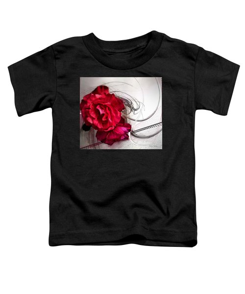 Toddler T-Shirt featuring the painting Red Roses by Susan Kinney