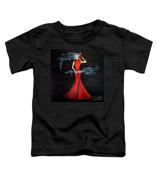 Scented Red Color Toddler T-Shirt