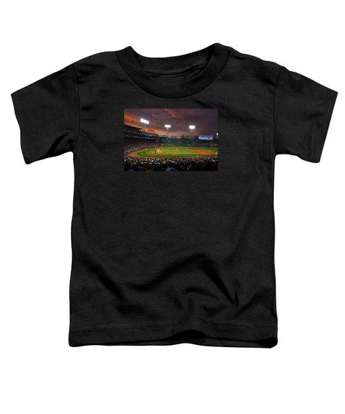 Red Sky Over Fenway Park Toddler T-Shirt