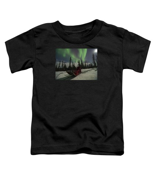 Red-sled Aurora Toddler T-Shirt