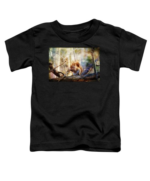 Red Squirrel With Pinecone Toddler T-Shirt