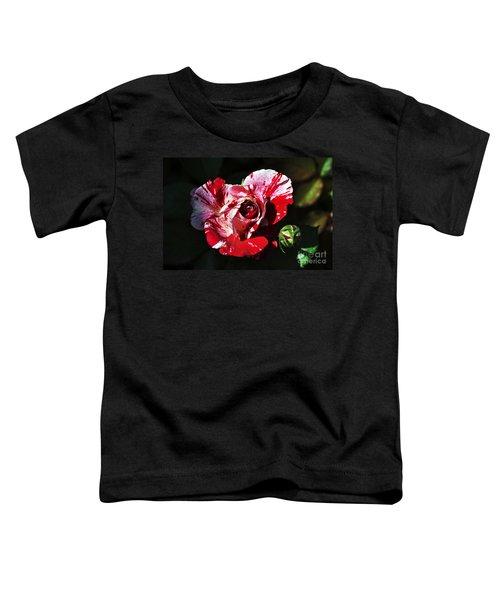 Red Verigated Rose Toddler T-Shirt