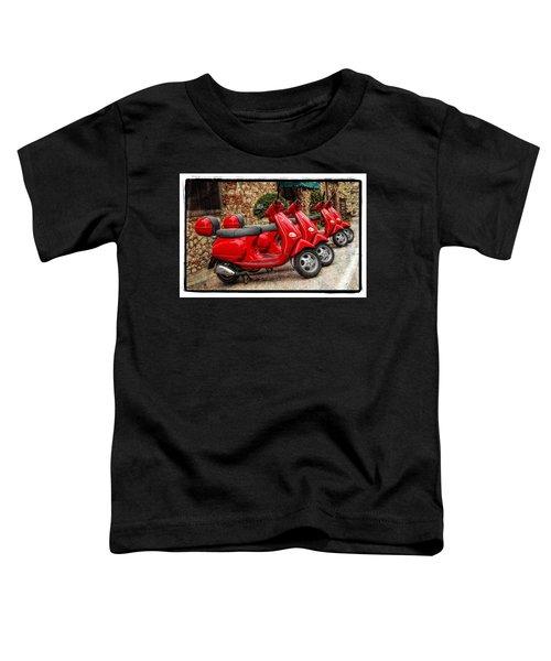 Red Vespas Toddler T-Shirt