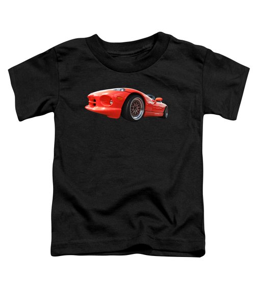 Red Viper Rt10 Toddler T-Shirt by Gill Billington