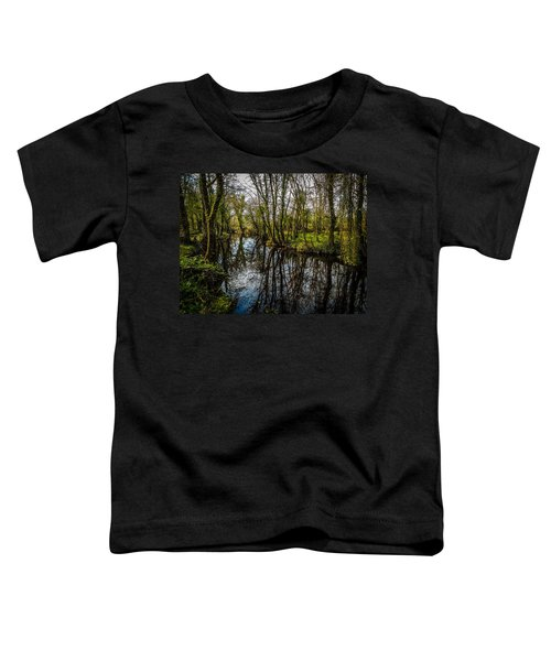 Toddler T-Shirt featuring the photograph Reflections At Yeats Thoor Ballylee by James Truett