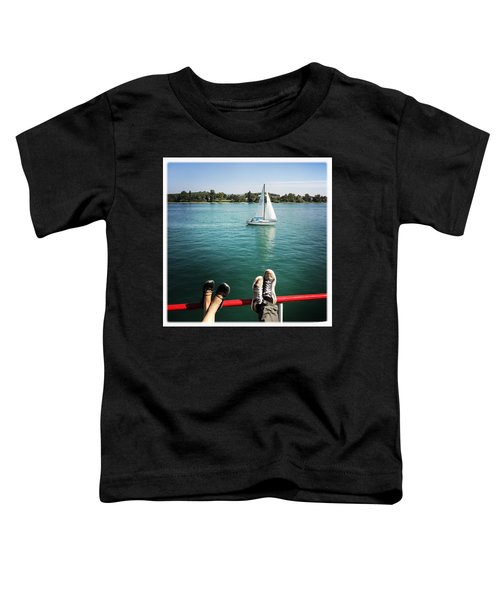 Relaxing Summer Boat Trip Toddler T-Shirt