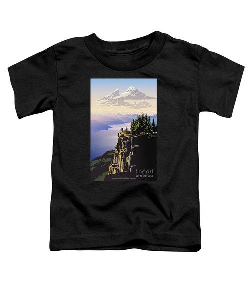 Retro Beautiful Bc Travel Poster Toddler T-Shirt