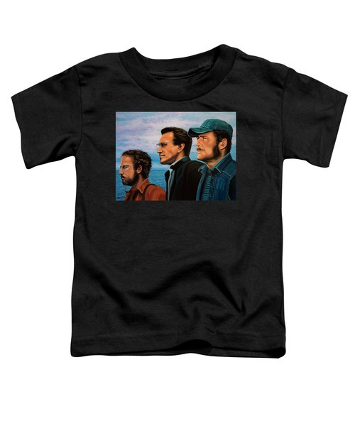Jaws With Richard Dreyfuss, Roy Scheider And Robert Shaw Toddler T-Shirt