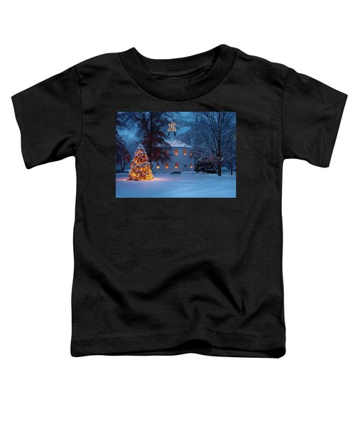 Richmond Vermont Round Church At Christmas Toddler T-Shirt