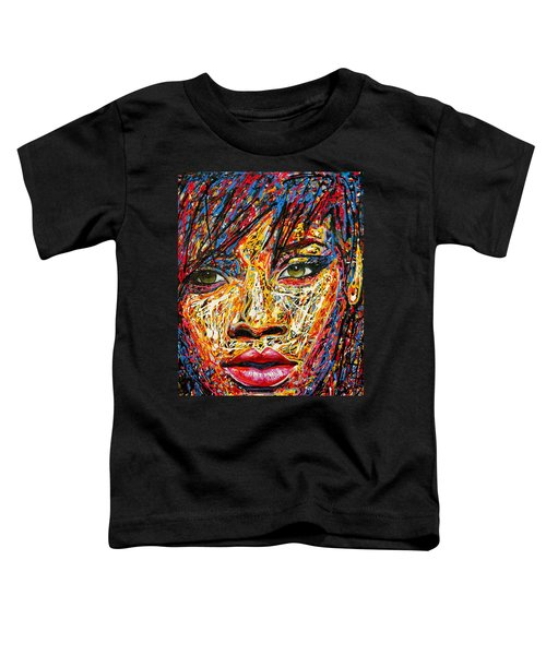Rihanna Toddler T-Shirt by Angie Wright