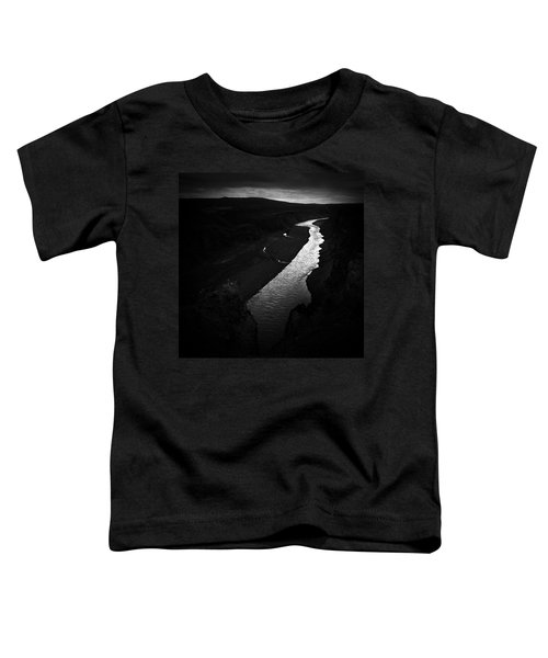 River In The Dark In Iceland Toddler T-Shirt