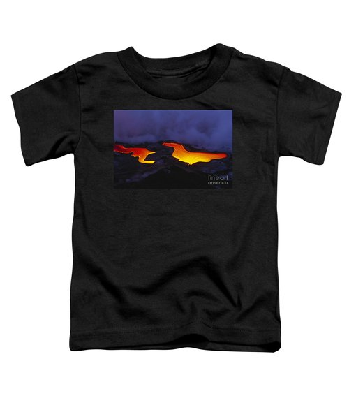 River Of Lava Toddler T-Shirt by Peter French - Printscapes