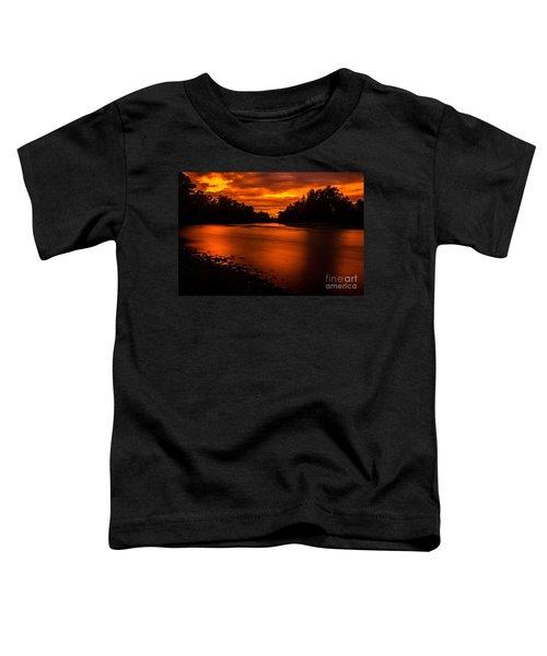 River Sunset 2 Toddler T-Shirt