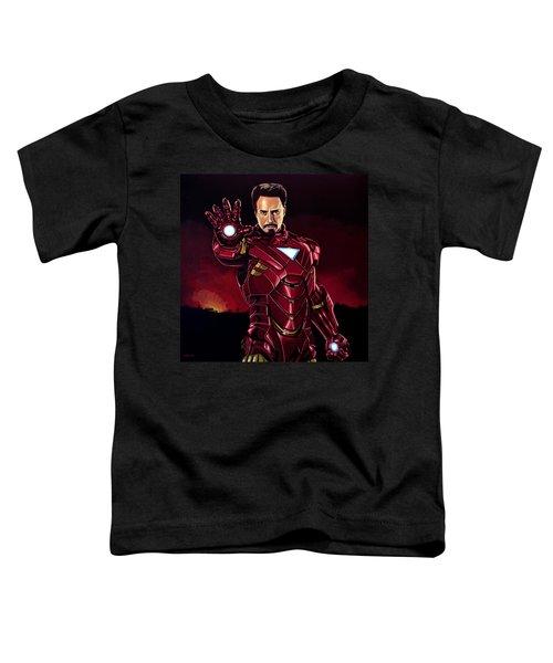 Robert Downey Jr. As Iron Man  Toddler T-Shirt