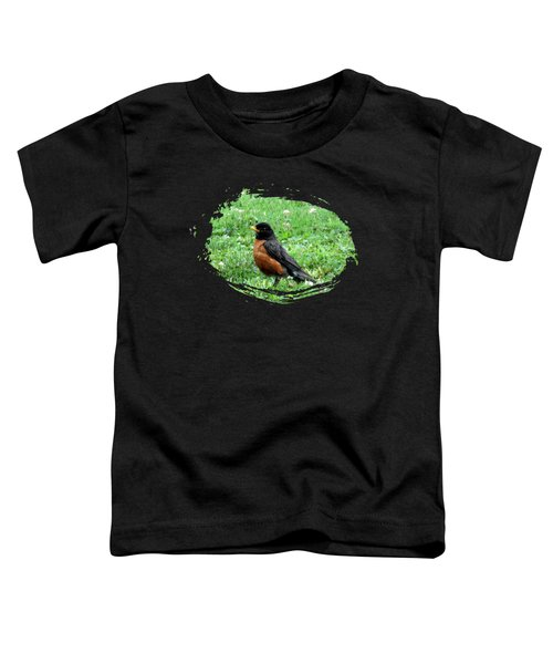 Robin In Sweet Clover Toddler T-Shirt