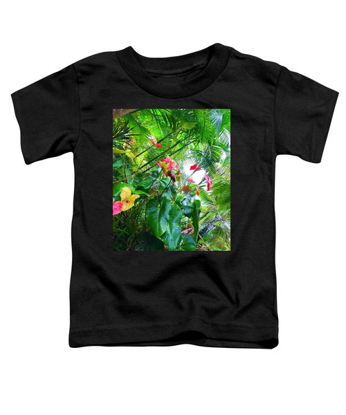 Robins Garden With Anthuriums And Ferns Toddler T-Shirt