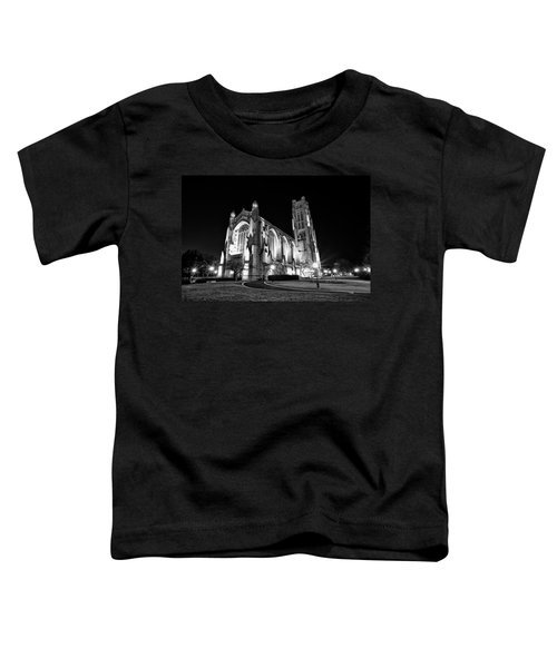 Rockefeller Chapel - B And W Toddler T-Shirt by CJ Schmit