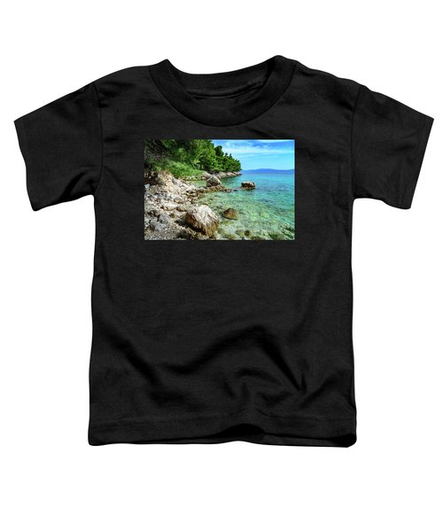 Rocky Beach On The Dalmatian Coast, Dalmatia, Croatia Toddler T-Shirt