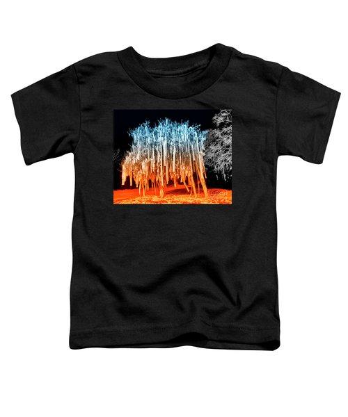 Rolled Tree Orangenblue Toddler T-Shirt