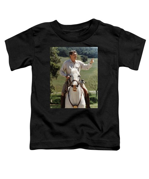 Ronald Reagan On Horseback  Toddler T-Shirt