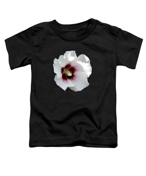 Rose Of Sharon Flower And Bumble Bee Toddler T-Shirt