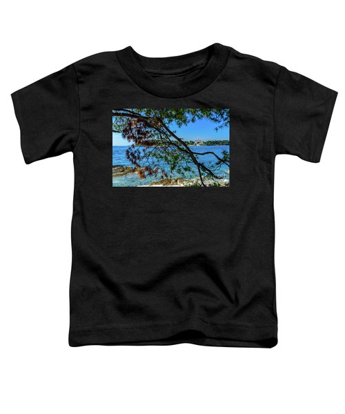 Rovinj Old Town Accross The Adriatic Through The Trees Toddler T-Shirt