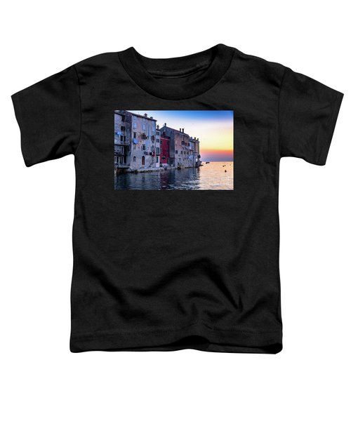 Rovinj Old Town On The Adriatic At Sunset Toddler T-Shirt