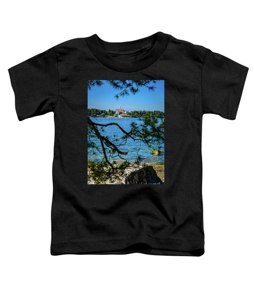 Rovinj Seaside Through The Adriatic Trees, Istria, Croatia Toddler T-Shirt