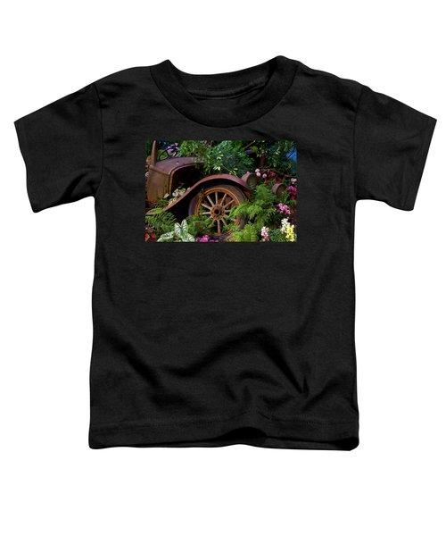 Rusty Truck In The Garden Toddler T-Shirt