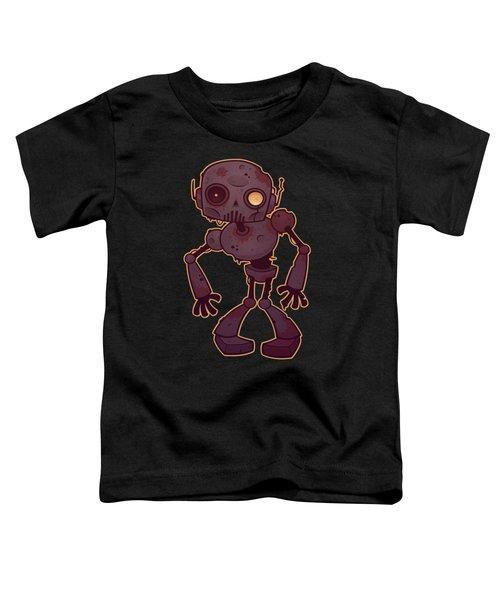 Rusty Zombie Robot Toddler T-Shirt