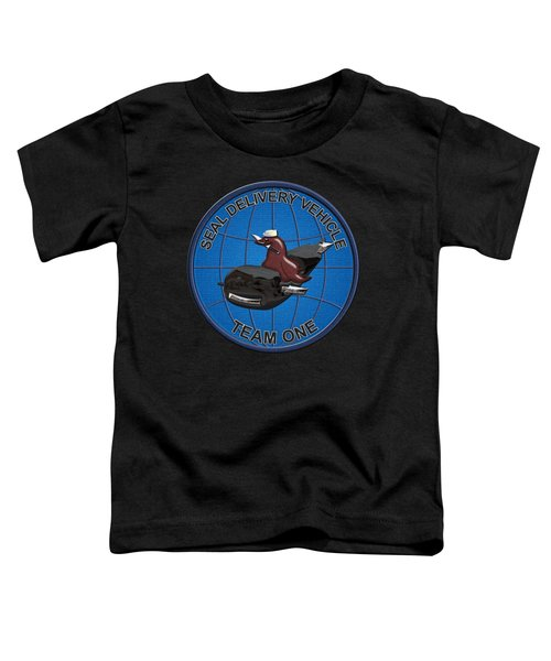 S E A L Delivery Vehicle Team One  -  S D V T 1  Patch Over Black Velvet Toddler T-Shirt