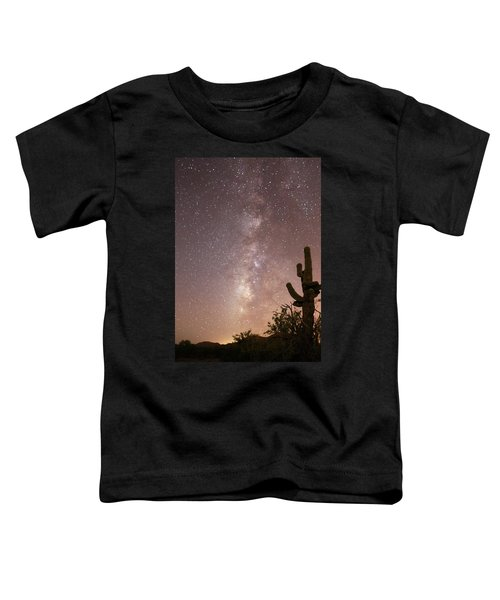 Saguaro Cactus And Milky Way Toddler T-Shirt