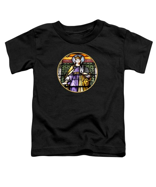 Saint Adelaide Stained Glass Window In The Round Toddler T-Shirt