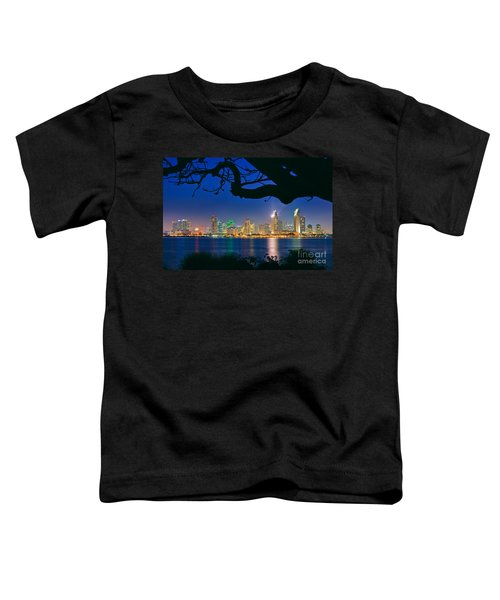 San Diego Skyline From Bay View Park In Coronado Toddler T-Shirt