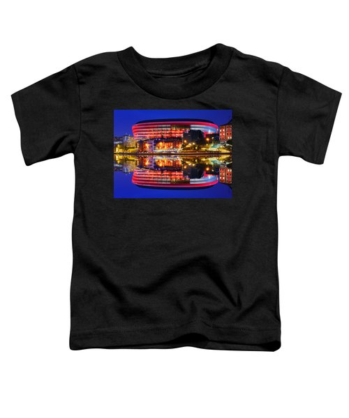 San Mames Stadium At Night With Water Reflections Toddler T-Shirt