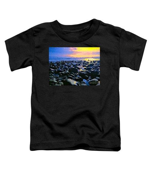 Santa Barbara Beach Sunset California Toddler T-Shirt
