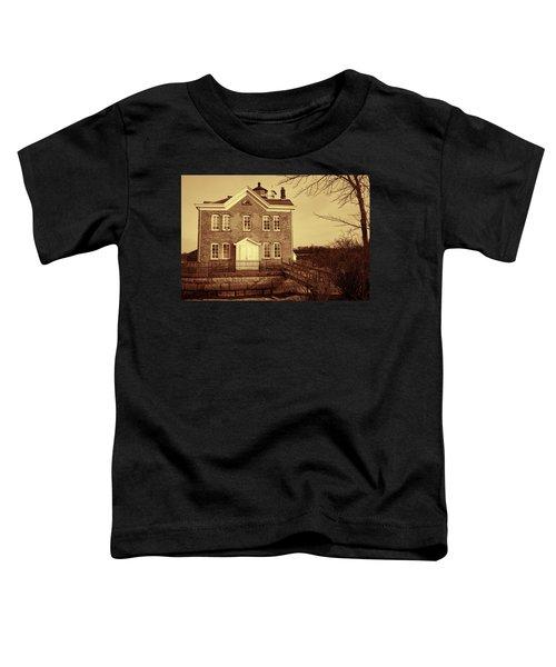 Saugerties Lighthouse Sepia Toddler T-Shirt