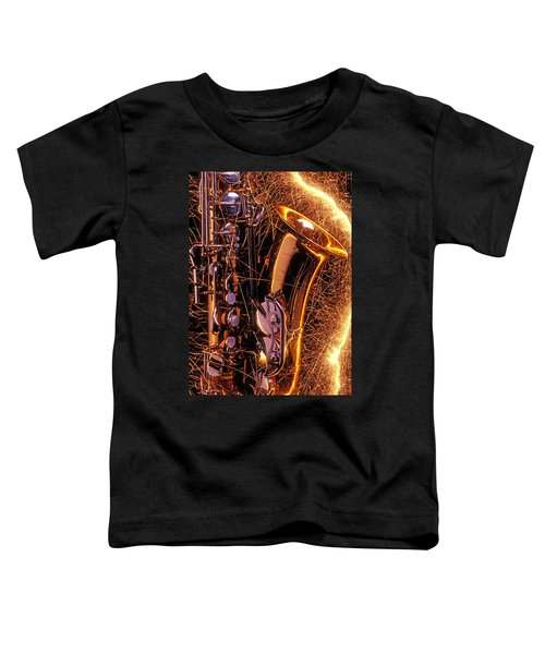 Sax With Sparks Toddler T-Shirt
