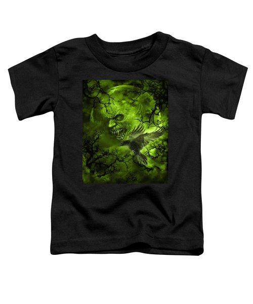 Scary Moon Toddler T-Shirt