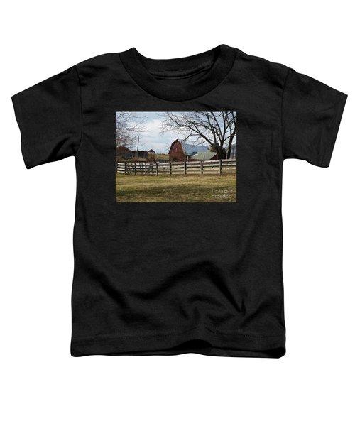 Scene On The Farm Toddler T-Shirt