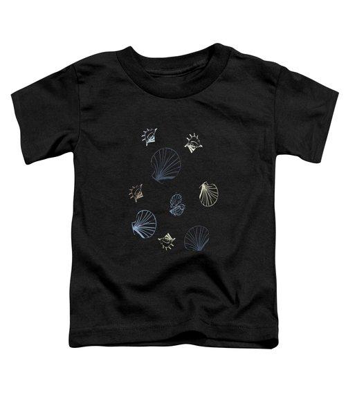 Seashell Pattern Toddler T-Shirt by Christina Rollo