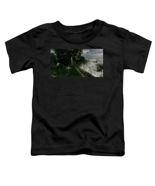 Toddler T-Shirt featuring the painting Seaside Cemetery by Celestial Images