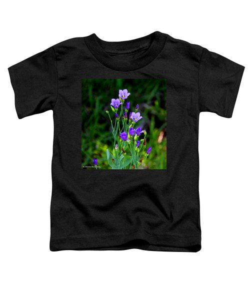Seaside Gentian Wildflower  Toddler T-Shirt