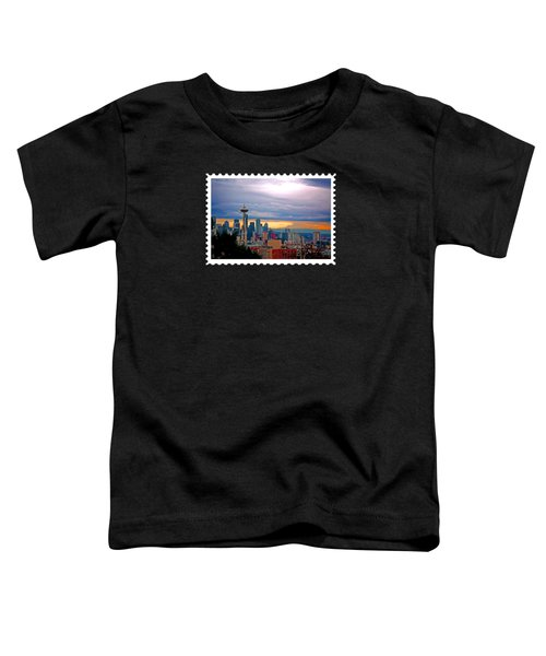 Seattle At Sunset Toddler T-Shirt by Elaine Plesser
