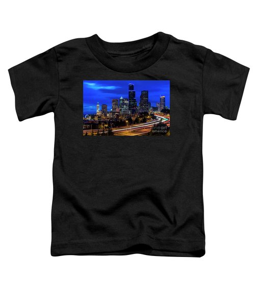 Seattle Skyline Toddler T-Shirt