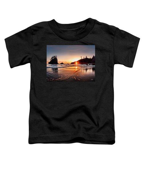 Second Beach 3 Toddler T-Shirt by Leland D Howard